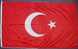 Flagge Fahne Türkei, ca. 120 x 200 cm, 160 g/m² Polyesterwebware Premiumqualität