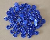 100Sets Kam Größe 20T5Kunstharz Kunststoff Druckknöpfen Tasten gurthalteband Punch Poppers für Tuch Windel/Lätzchen/unpaper Handtücher/Windeln/Knöpfe/Mama Pads (B16–Royal Blau)