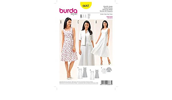 Burda Damen Schnittmuster 6655/Kordelzug Ausschnitt Top und Kleider GRATIS Minerva Crafts Craft Guide