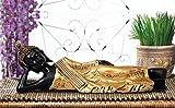 #7: eCraftIndia Buddha Idol Size(4X13X4,Inch,Golden)