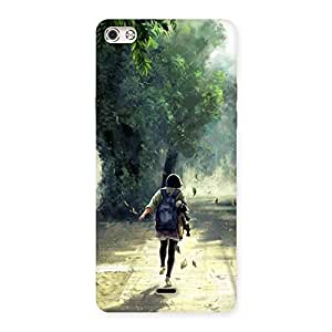 NEO WORLD Premium Girl Back To Home Back Case Cover for Micromax Canvas Silver 5