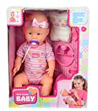 Simba 105039005 - New Born Baby, Funktions-Baby-Puppe (trinkt/näßt), inklusive Zubehör, 43 cm -