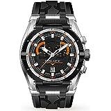 Mens POLICE Raptor orange detail chronograph watch 14215JSTB/02D