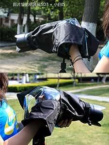 DSLR Camera Rain Cover/ Rain Jacket / Waterproof Cover / Protective Rain / Snow / Spray / Sand / Dust Camera Cover for Canon, Nikon, Olympus, Sony, Panasonic, Pentax, Minolta, Sony DSLR and SLR Camera(Black:Size L)