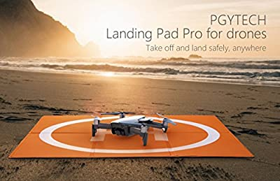 Hensych RC Drone Landing Pad Waterproof PU Portable Foldable Landing Mat for DJI Mavic Air/Mavic Pro/Spark, with Carrying Storage Bag,Double Sided Color Design