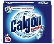 Calgon Powerball Pastillas - Antical para la Lavadora, Elimina Olores y Suciedad, en formato pastillas, 45 uni