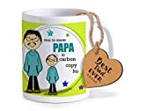 #3: Tied Ribbons Birthday Gift for Dad Printed Coffee Mug(325ml,Ceramic) with Wooden Tag