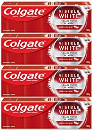 Colgate Visible White Teeth Whitening Toothpaste, Protects Enamel, Removes Stains, With Whitening Accelerators