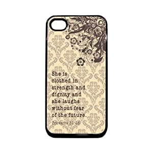 She Is Clothed In Strength And Dignity Proverb 1 Thinshell Case Protective iPhone 4 Case iPhone 4S Case