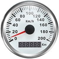 GPS Tacho Speedo Gauge 200km/h für Auto Boot Yacht Schiff mit Hintergrundbeleuchtung 85mm 12V/24V