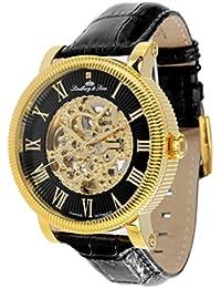Lindberg & Sons Herren-reloj analógico de pulsera automático de cuero SK14H024