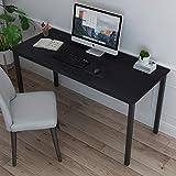 soges Arbeitstisch Schreibtisch Computertisch PC Tisch aus Holzwerkstoffen mit großen Tischoberfläche für Zuhause Büro Seminar usw,138x60CM,Schwarz