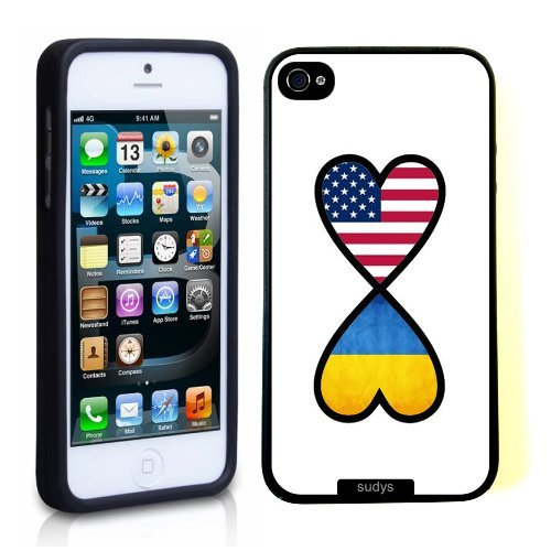 SudysAccessories American Ukrainian Forever Ukraine Flag Infinity Forever Thinshell Case Protective iPhone 5 Case iPhone 5S Case