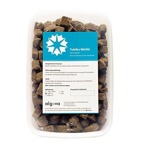algova-Tubifex-Wrfel-Gefriergetrocknet-Fischfutter-Wasserschildkrtenfutter