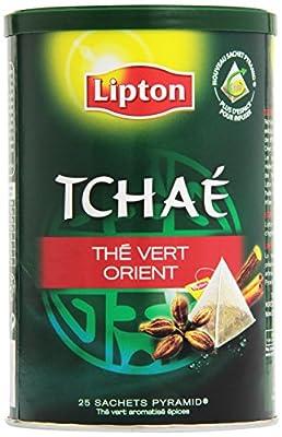 Lipton Tchaé Thé Vert Orient 25 Sachets 44 g