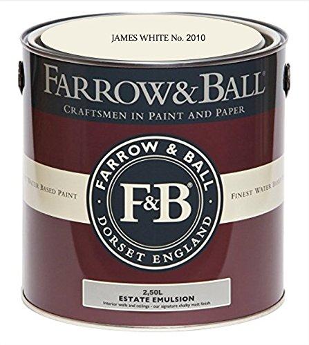 Farrow & Ball Estate Emulsion 2,5 Liter - JAMES WHITE No. 2010 - Beruhigende Emulsion