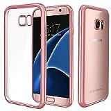 Galaxy S7 Hülle,Nakeey Samsung Galaxy S7 Crystal Case Silikon Hülle Clear TPU Schutzhülle Hülle für Samsung Galaxy S7 Case Cover - Roségold