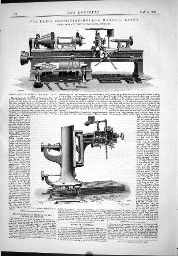 1889 ausführende hohle Maschinerie-Werkzeuge Mandrill-Drehbank-Smith Coventry