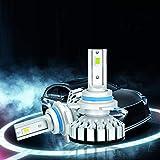 9012 Led birnen Auto Scheinwerfer lampe mit Philips Chip 8000LM 80W 6000K Weiß Glühbirnen Kfz Led Leuchtmittel 1 Jahre Garantie 2 Stück (Diesel Auto Zone)