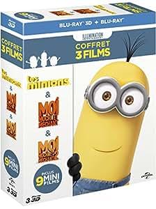 Les Minions + Moi, Moche Et Méchant 1 + Moi, Moche Et Méchant 2 [Blu-ray] [Blu-ray 3D]