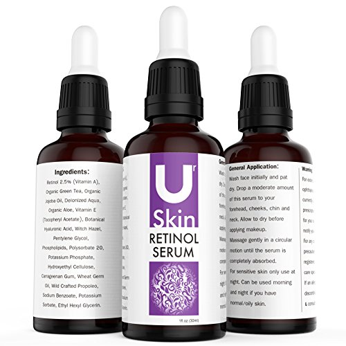PREMIUM Retinol Face Serum with Hyaluronic Acid & Vitamin E, Best Anti Aging Retinol Serum for Wrinkles, Fine Lines & Sensitive Skin – Clinical Strength – Retinol Serum Treatment for Acne, Hydrate & Brighten your look! 100% Satisfaction