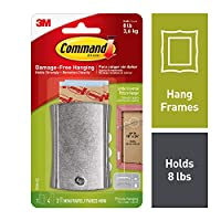 Command Jumbo Universal Metal Picture Hanger(Silver, 1 Hanger,4 Large Strips and 2 Mini Strips)