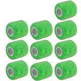 E Support 10Stk Grün Rollen Kohesive Selbsthaftende Bandagen Fingerpflaster Fingerverband Wundverband selbstklebend wasserfest 4.5mx5cm
