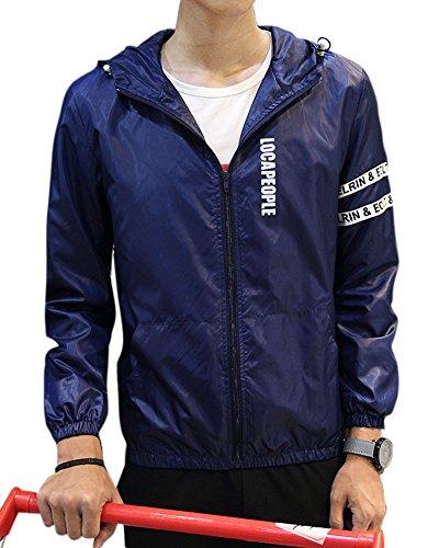 uomo-moda-casual-sezione-sottile-tinta-unita-giacca-con-cappuccio-gioventu-blu-marino-xxxl
