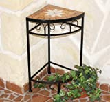 DanDiBo Blumenhocker Merano Mosaik 12013 Blumenständer 52 cm Hocker Eckregal Tisch
