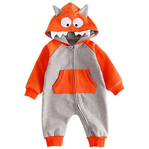 Bebone Baby Strampler Jungen Mädchen Halloween Kostüm (12 Monate, (Kostüme Jungen Monats Halloween 12)