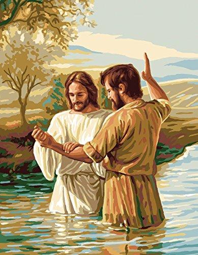 De tapisserie/broderie Royal Paris Toile Motif Baptême (Le Baptême du Christ)