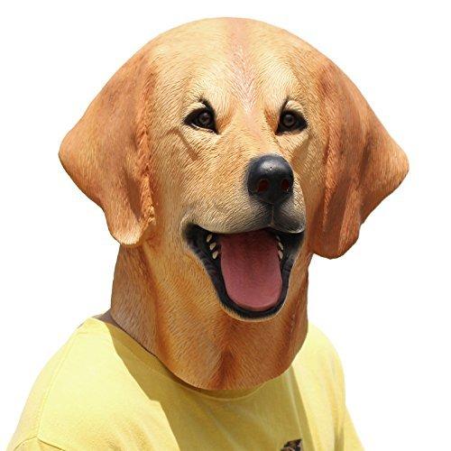 PartyCostume - Labrador Maske - Halloween Latex Maske Der Hund Den Kopf