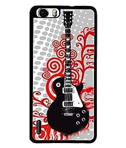 FUSON Designer Back Case Cover for Huawei Honor 6 (Art Classic Guitar Hobby Instrument )