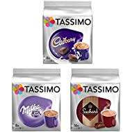 Tassimo T Discs Pods: HOT CHOCOLATE PACK - MILKA, CADBURY, SUCHARD 32 PODS