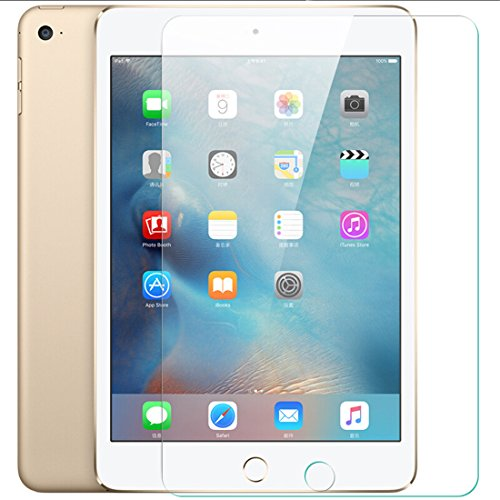 VEVICE - Protector de Pantalla para iPad Air/Air2, 2,5D, Transparente, dureza 9H, Ultrafino, antiarañazos, antiburbujas, película de Vidrio Templado Compatible con lápices Apple [9,7 Pulgadas]