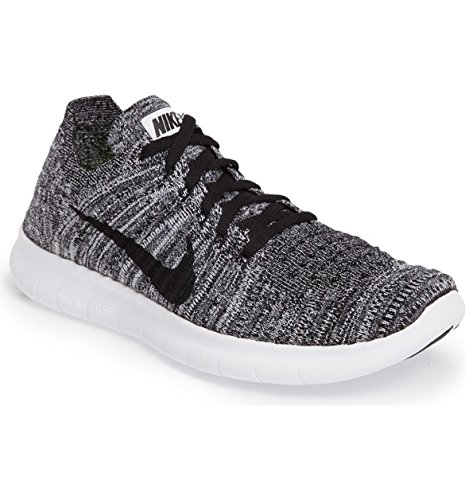 Nike Free Rn Flyknit (Gs), Chaussures de Running Entrainement Homme Verde (Volt / Black-White)