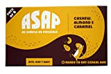 #4: ASAP Almond, Cashew and Caramel Granola Bars, 40g Each (Box of 6)