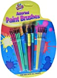 SET OF 15 ASSORTED SIZE KIDS PAINT BRUSHES children child brush paintbrushes