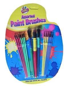 SET OF 15 ASSORTED SIZE KIDS PAINT BRUSHES children child brush paintbrushes