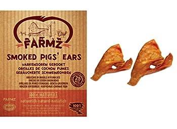 Duvo+ Oreille de Cochon Fumé pour Chien 25 Pièces