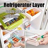 Kühlschrankbox Küchen Aufbewahrungsbox Schublade Aufbewahrungskiste Dekobox Optik (Gruen) -