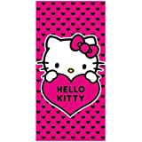 Hello Kitty Childs Beach / Swim Towel Hearts Design