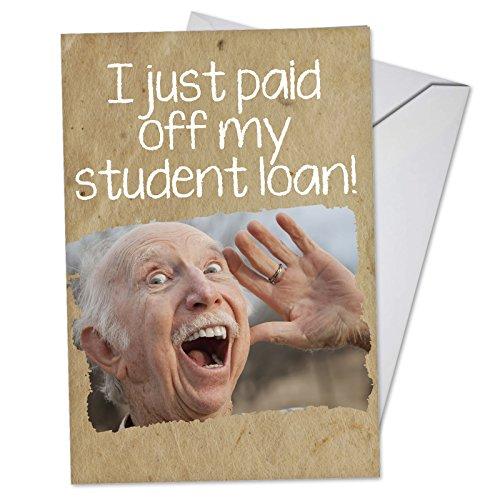 P-Grad-S-RR NobleWorks Graduation Singles Red Rocket Humor C3449GDG Student Loan Paid