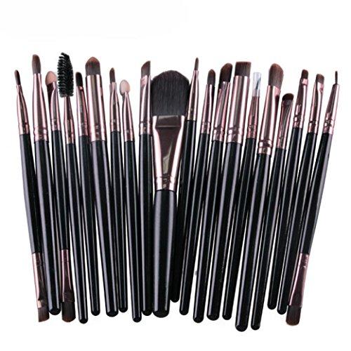 SHOBDW Pinceaux Maquillage Cosmétique Professionnel Cosmétique Brush Beauté Maquillage Brosse Makeup Brushes Cosmétique Fondation avec Sac Abordable, 20pcs Set/Kit Noir