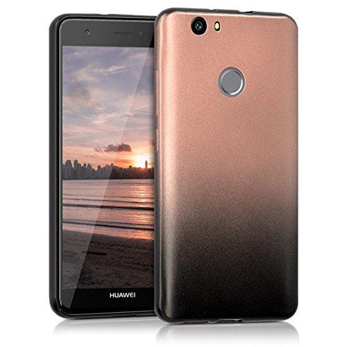 kwmobile Huawei Nova Hülle - Handyhülle für Huawei Nova - Handy Case in Anthrazit Rosegold