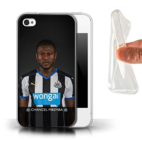 Officiel Newcastle United FC Coque / Etui Gel TPU pour Apple iPhone 4/4S / Pack 25pcs Design / NUFC Joueur Football 15/16 Collection Mbemba