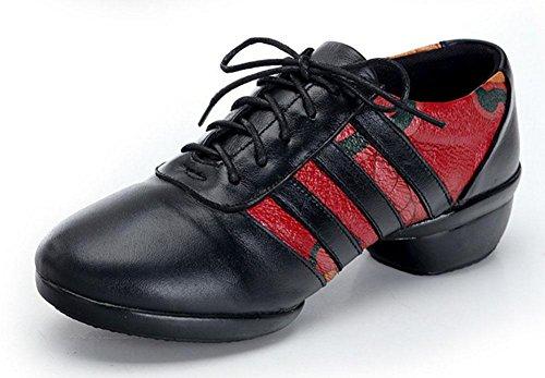 SHIXR Femmes Chaussures De Danse Chaussures De Sport Style Ethnique Chaussures De Jazz Aptitude Loisir Chaussure noir