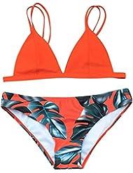 Bikini Set Hffan Women's 2PC Swimsuit Sexy Halter Rope Bra Push Up Swimsuit High Waist Bikini Swimwear Summer Beachwear