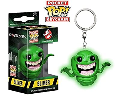 Funko - Porte Clé Ghostbusters - Slimer Glow In The Dark Exclu Pocket Pop 4cm - 0889698107686