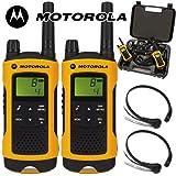 10Km Motorola TLKR T80 Extreme IPX4 Walkie-Talkie Lizenzfreie 2 Zwei Way PMR Radio + Comtech...